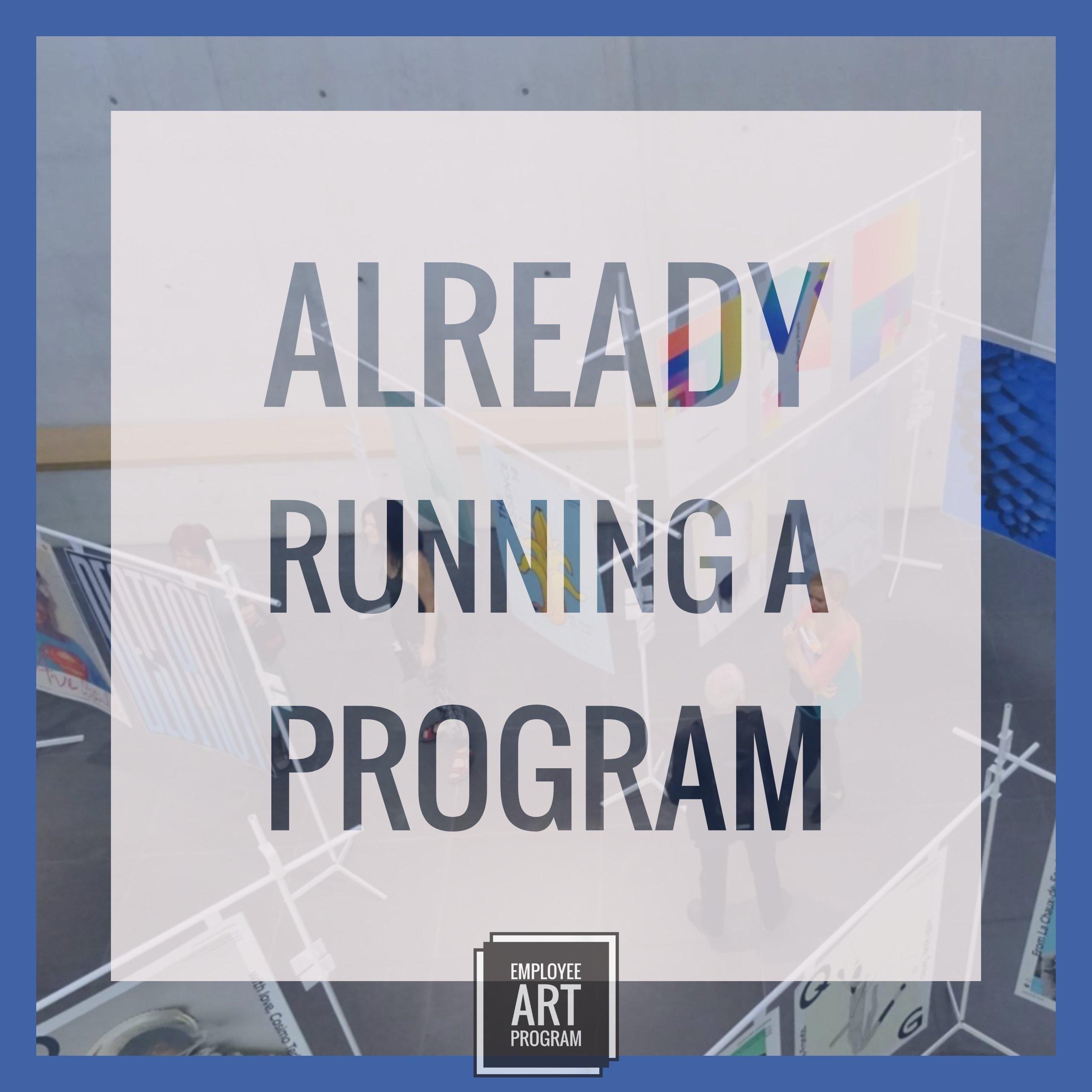 Login here if you are already running an employee art program