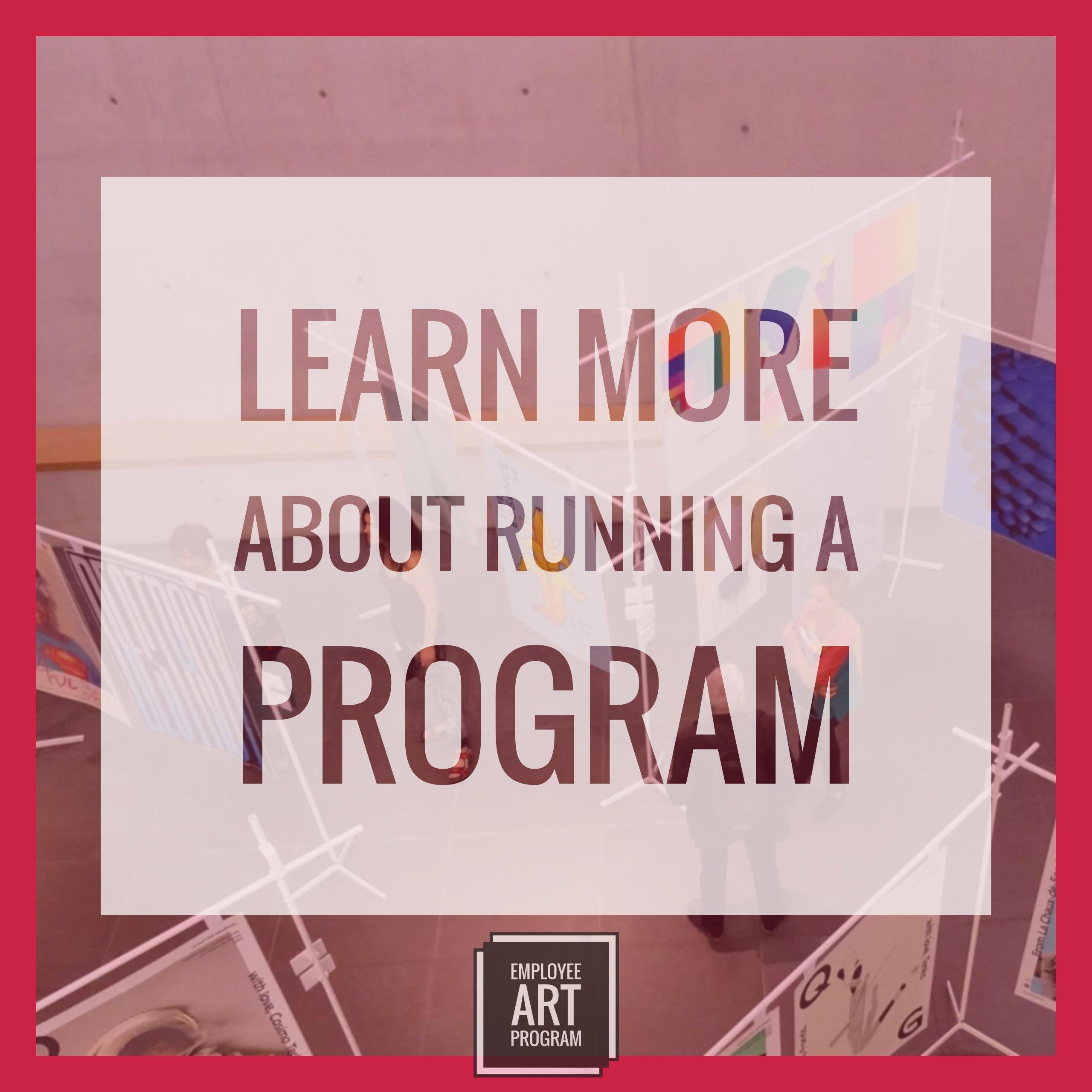 Learn More about running an employee art program