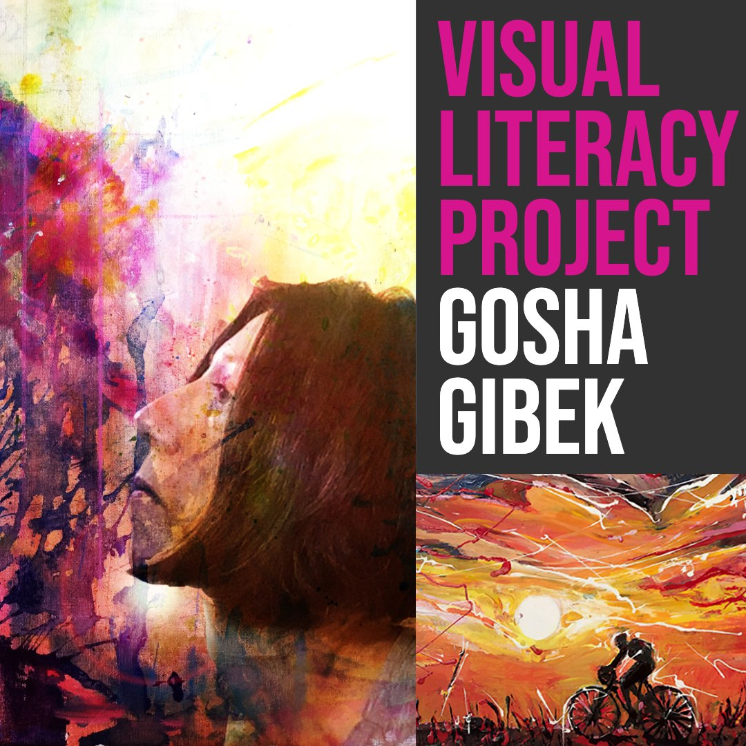 Visual Literacy Project Talks - The Art of Gosha Gibek capturing your passions with sports inspired paintings